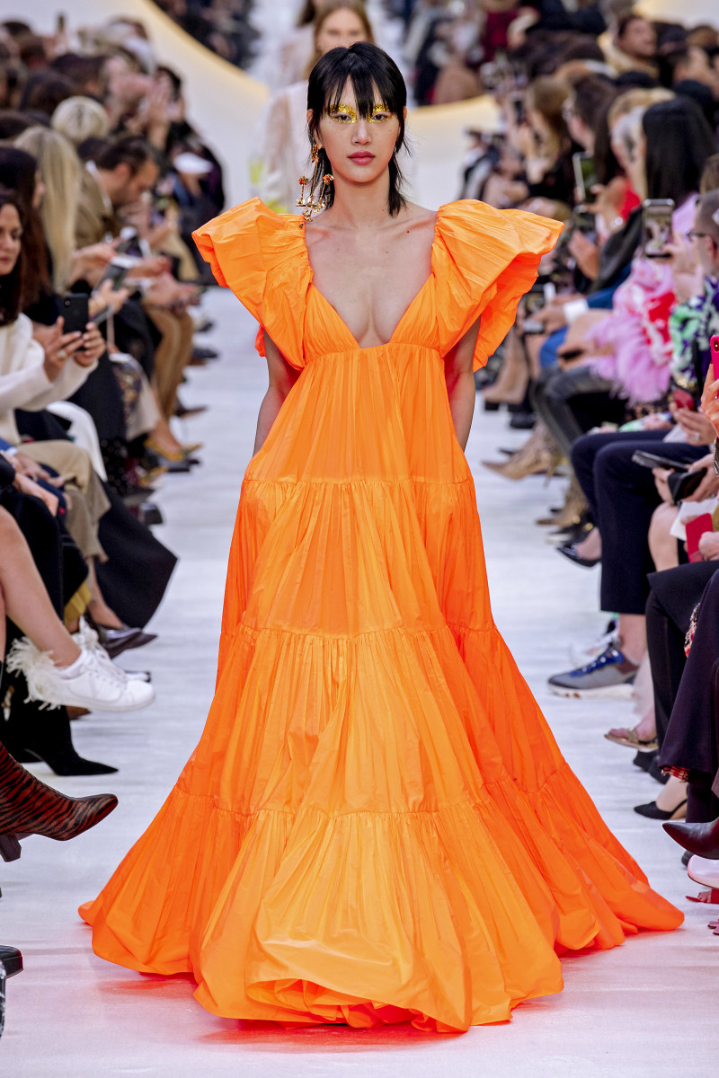 Valentino Spring 2020 Orange Gown