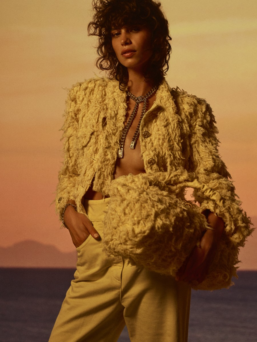 A look from the Chanel Cruise 2021 collection.