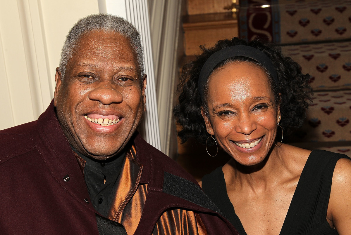 André Leon Talley and Robin Givhan in 2015.