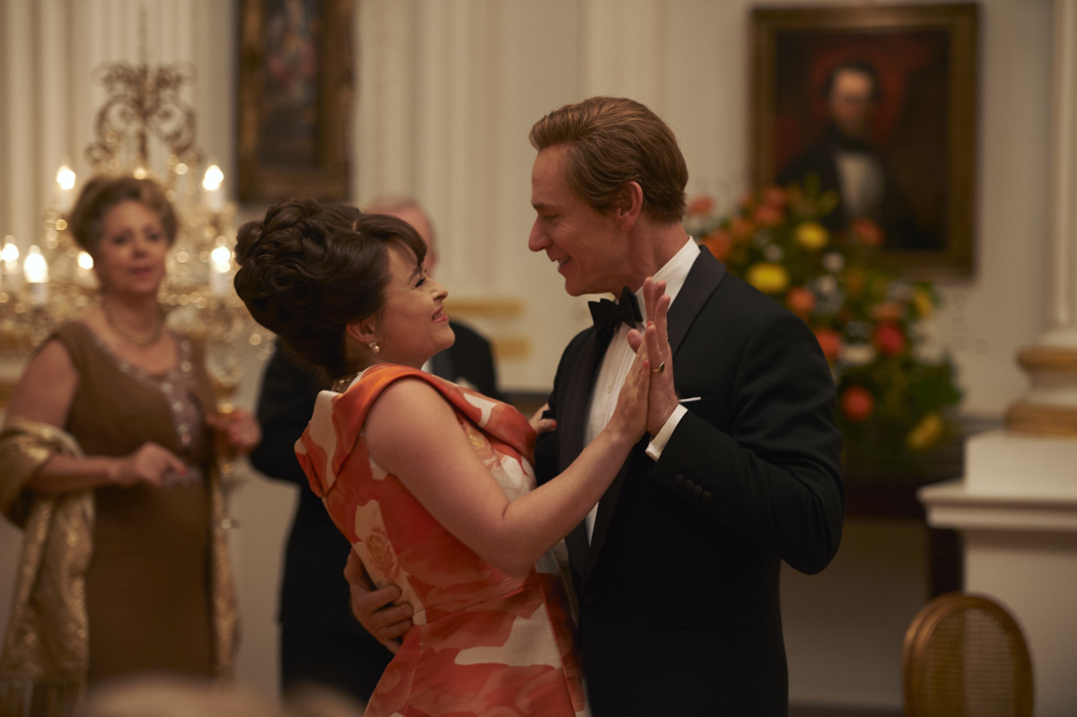 Princess Margaret (Helena Bonham Carter) and Tony (Ben Daniels) visit the White House.