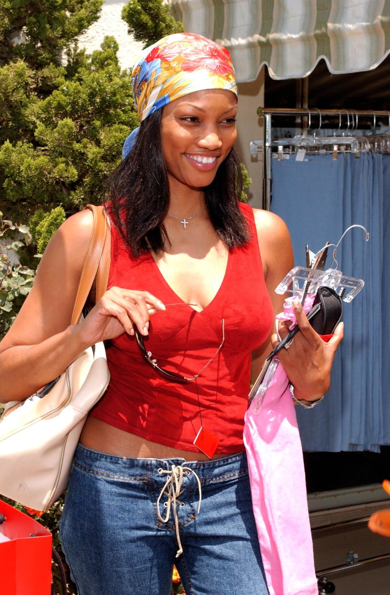 Garcelle Beauvais in the Juicy Couture suite at the Chateau Marmont in Hollywood in 2001.