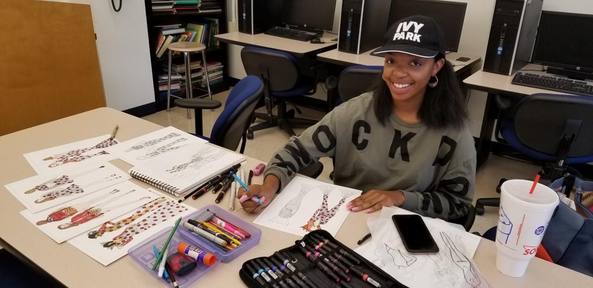 Marquelle Bowden, a recent graduate of Virginia State University's Textiles, Apparel and Merchandising Management (TAMM) program