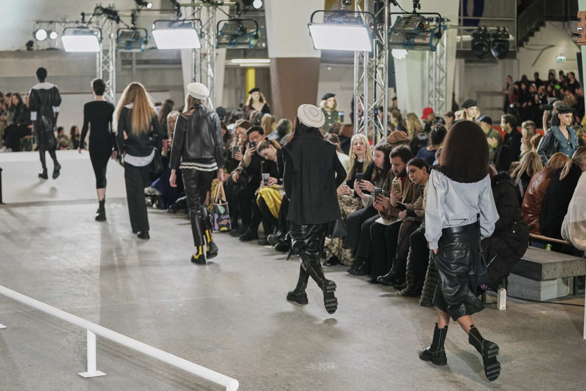 The finale at Ganni's Fall 2020 show during Copenhagen Fashion Week.