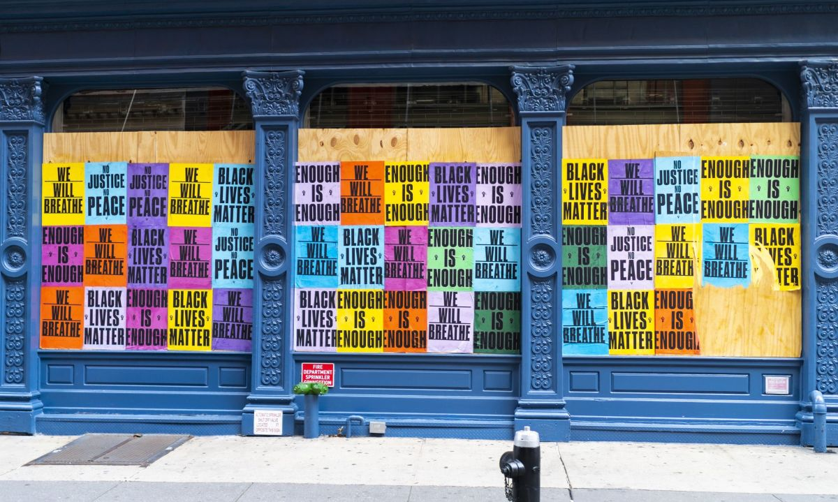 Soho Boarded Up Storefronts 2020