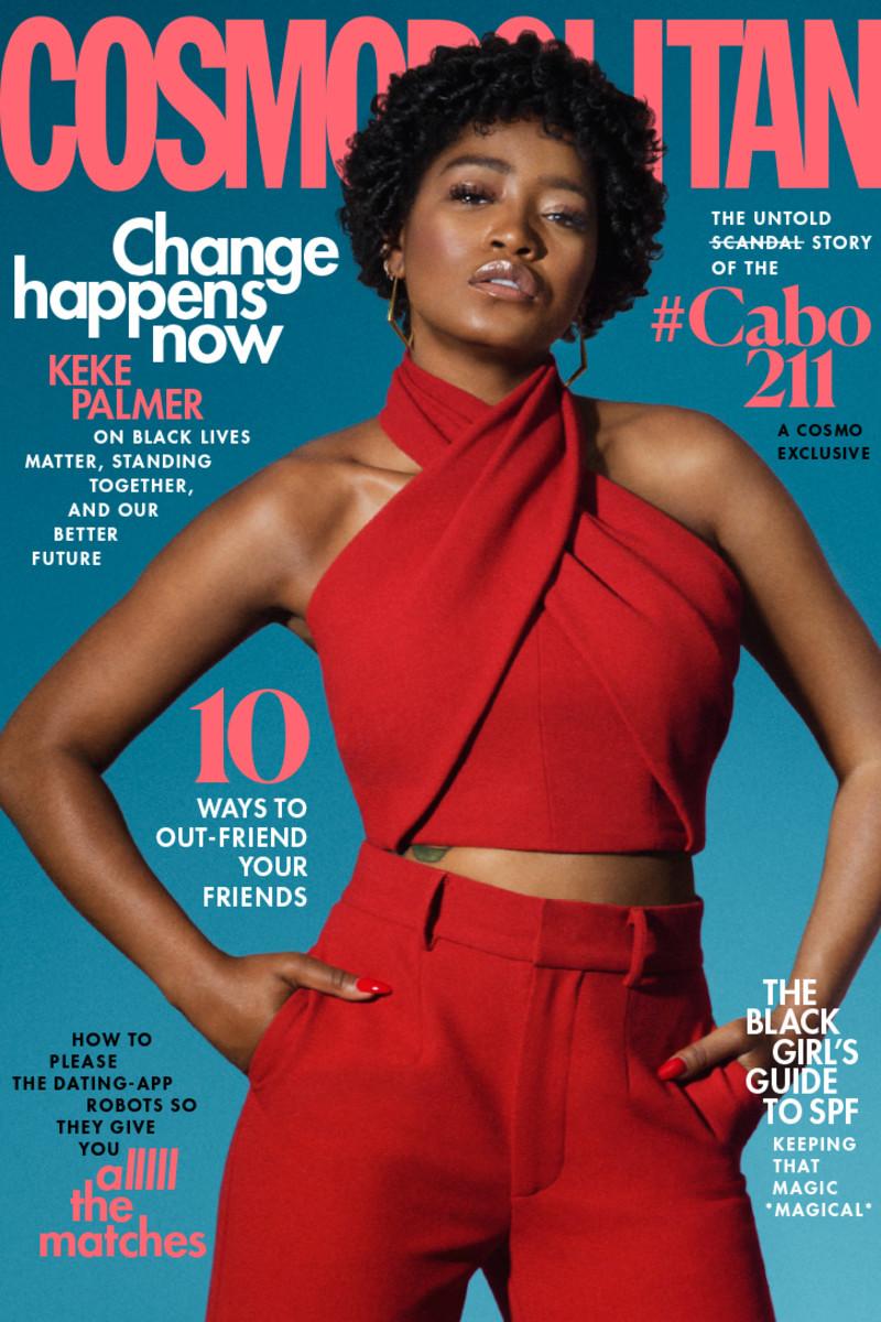 "Keke Palmer on the Jaugust cover of ""Cosmopolitan."""