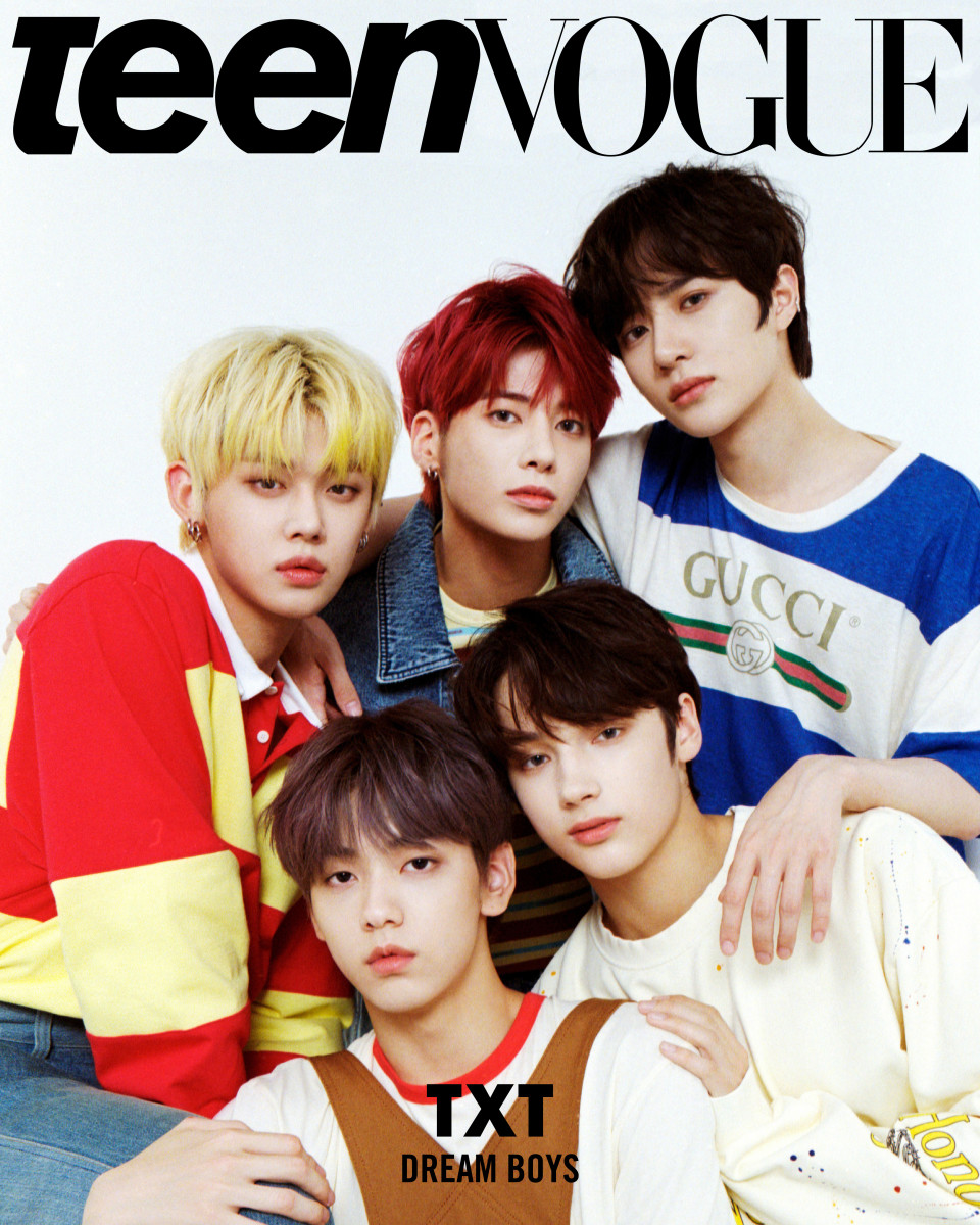 TXT on the cover of Teen Vogue.