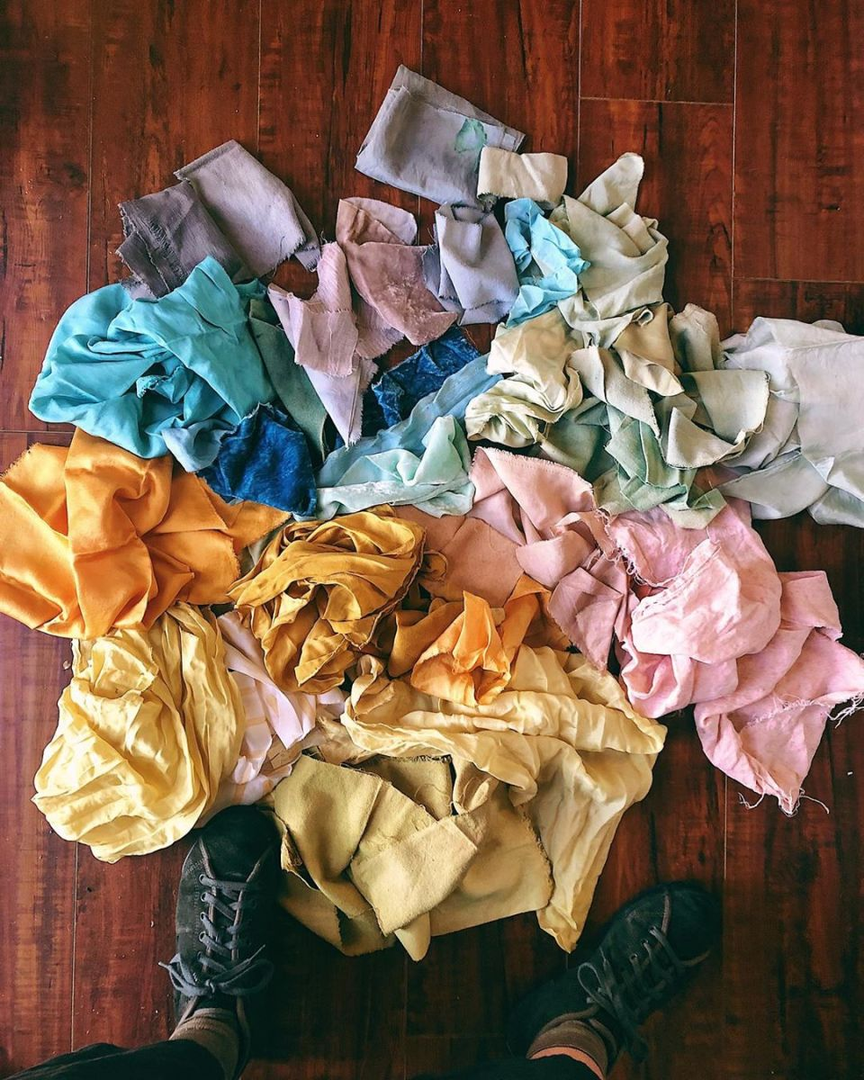 beauty trends Fabric colored with natural dyes by Liz Spencer of the Dogwood Dyer.