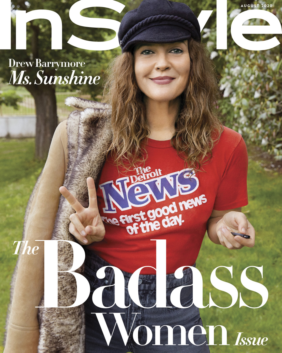 instyle drew barrymore august 2020