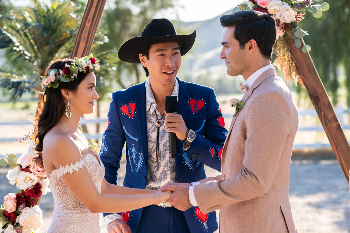 Tala (Camila Mendes), Trevor (Chris Pang) and Abe (Tyler Hoechlin).