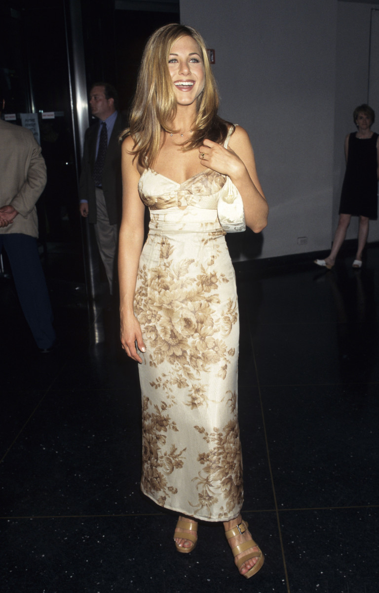 Jennifer Aniston at an event in 1997.