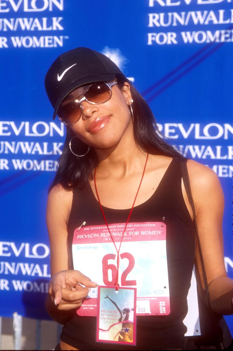 Celebrity Fashion: Aaliyah at a Revlon charity match in 2000.