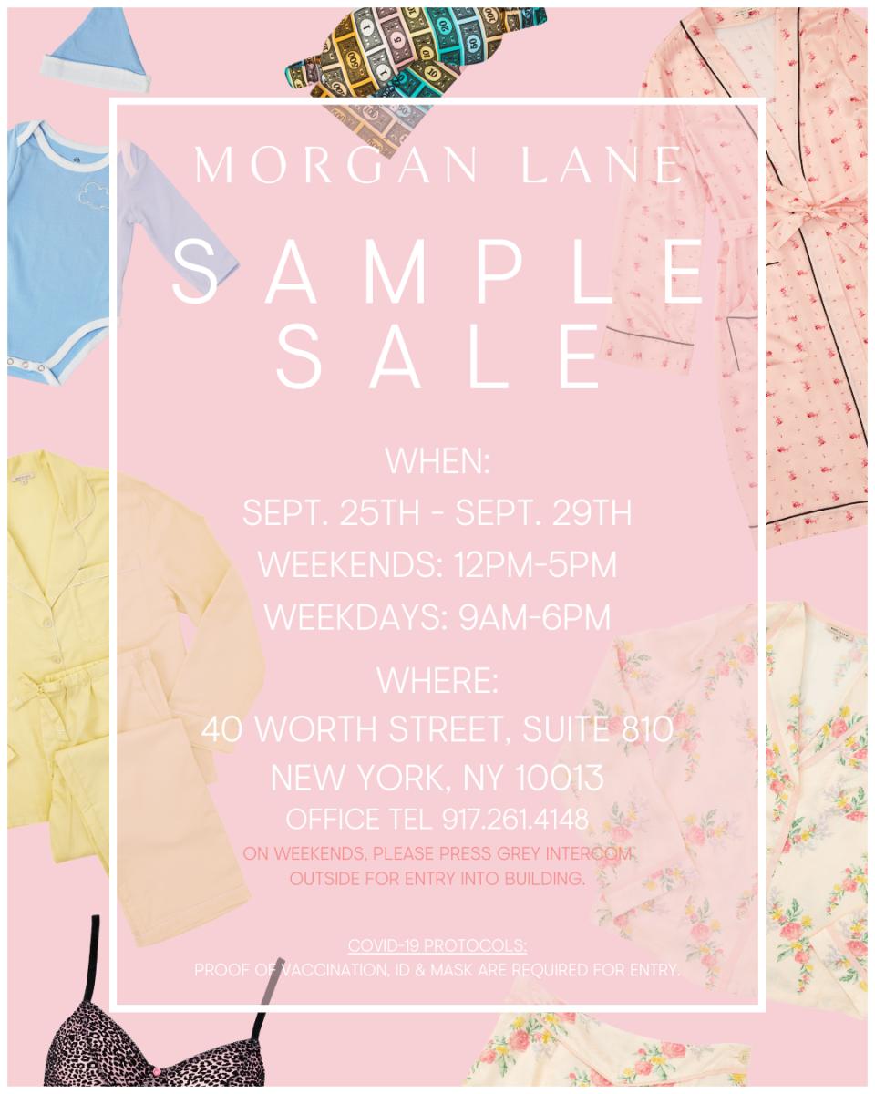 Morgan Lane Sample Sale