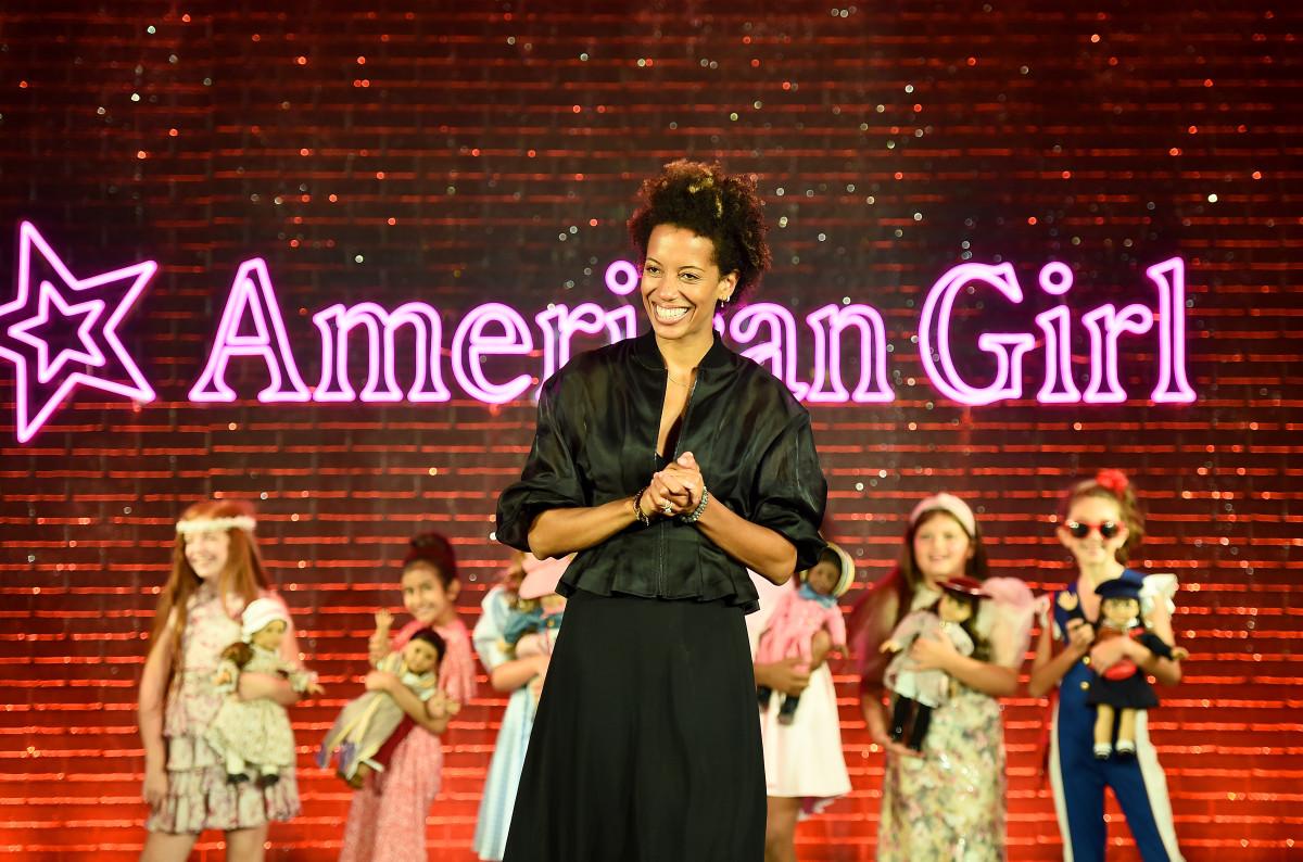 Carly Cushnie on the American Girl runway.