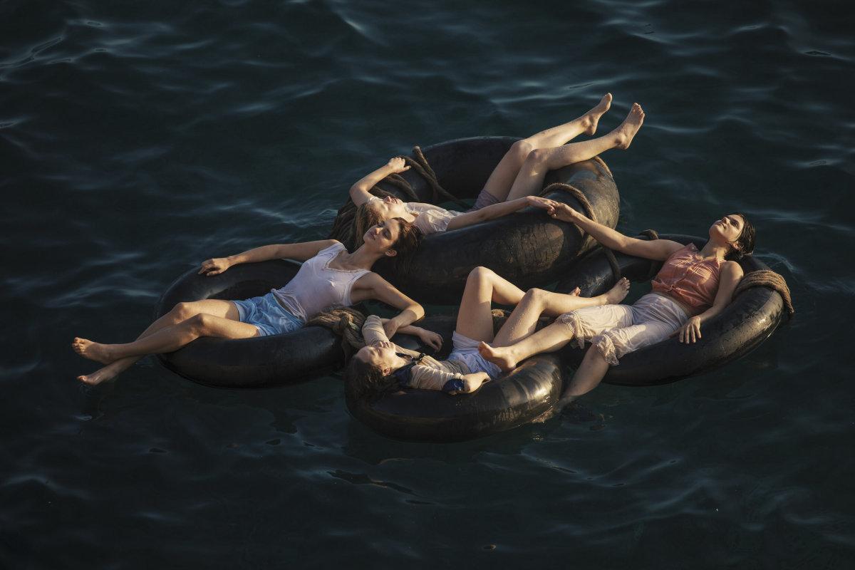 Clockwise from left: Van Patten as Ana, Mia Goth as Marsha, Soko as Gert andHavana Rose Liu as Bea in 'Mayday.'