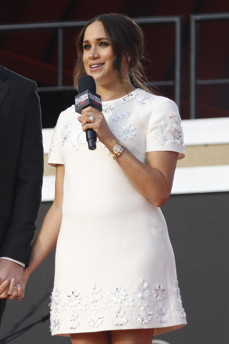 Meghan, Duchess of Sussex speaks onstage during Global Citizen Live, New York on September 25, 2021