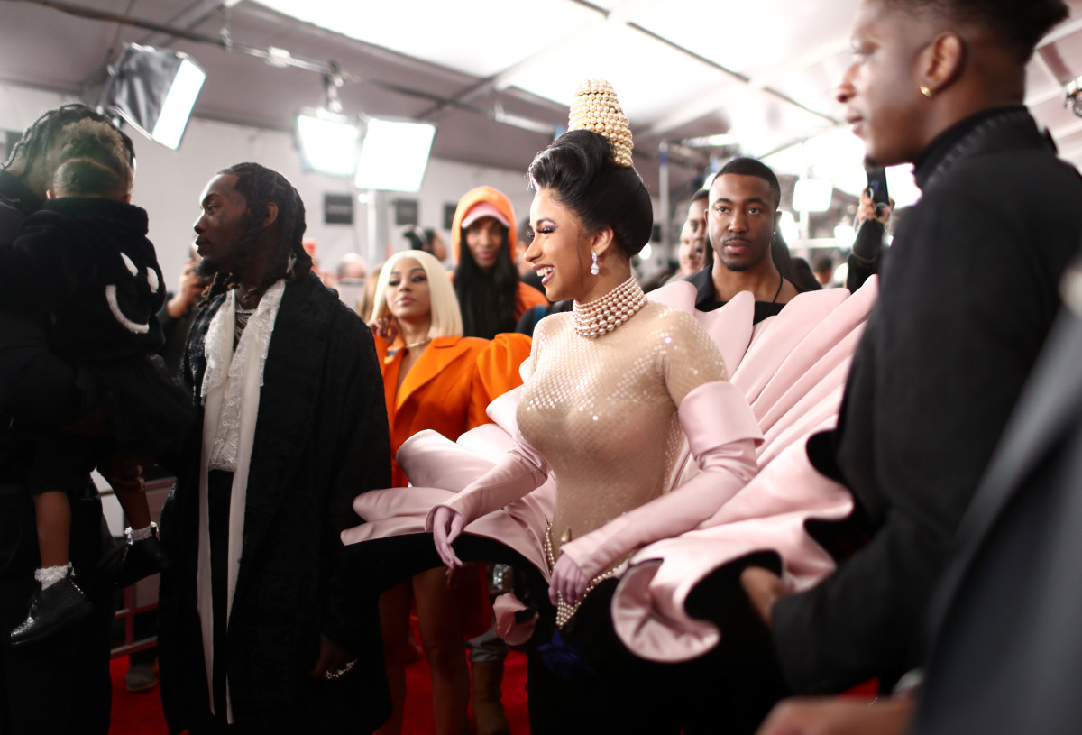 ardi B attends the 61st Annual GRAMMY Awards at Staples Center 2