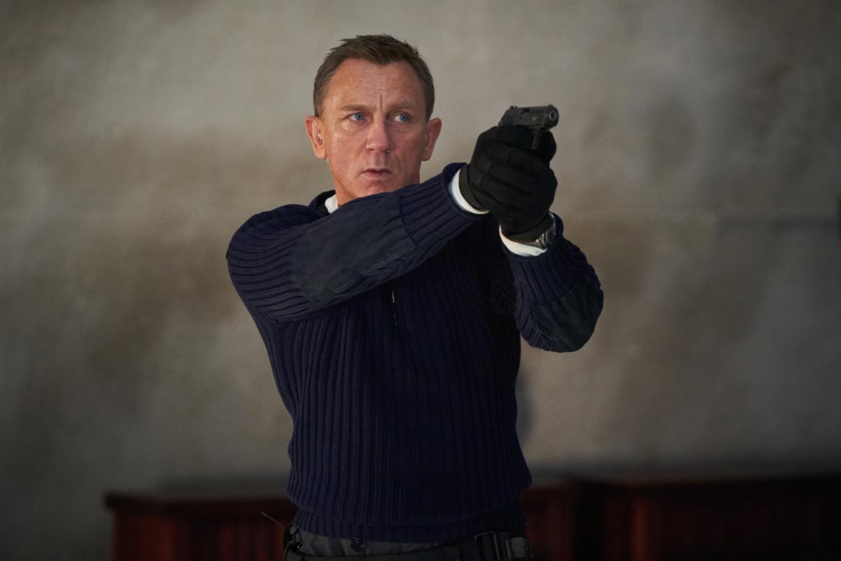 Bond in an N. Peal sweater.