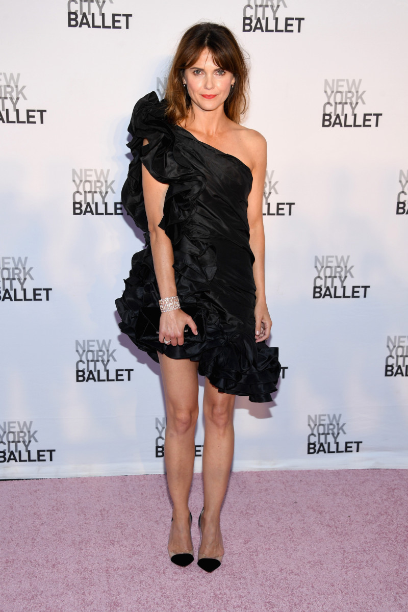 Keri Russell in Johanna Ortiz at theNew York City Ballet's 2017 Fall Fashion Gala.