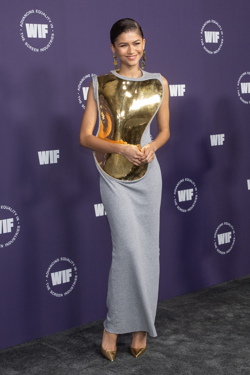 Zendaya attends the Women in Film's annual award ceremony on October 06, 2021 in Los Angeles, California