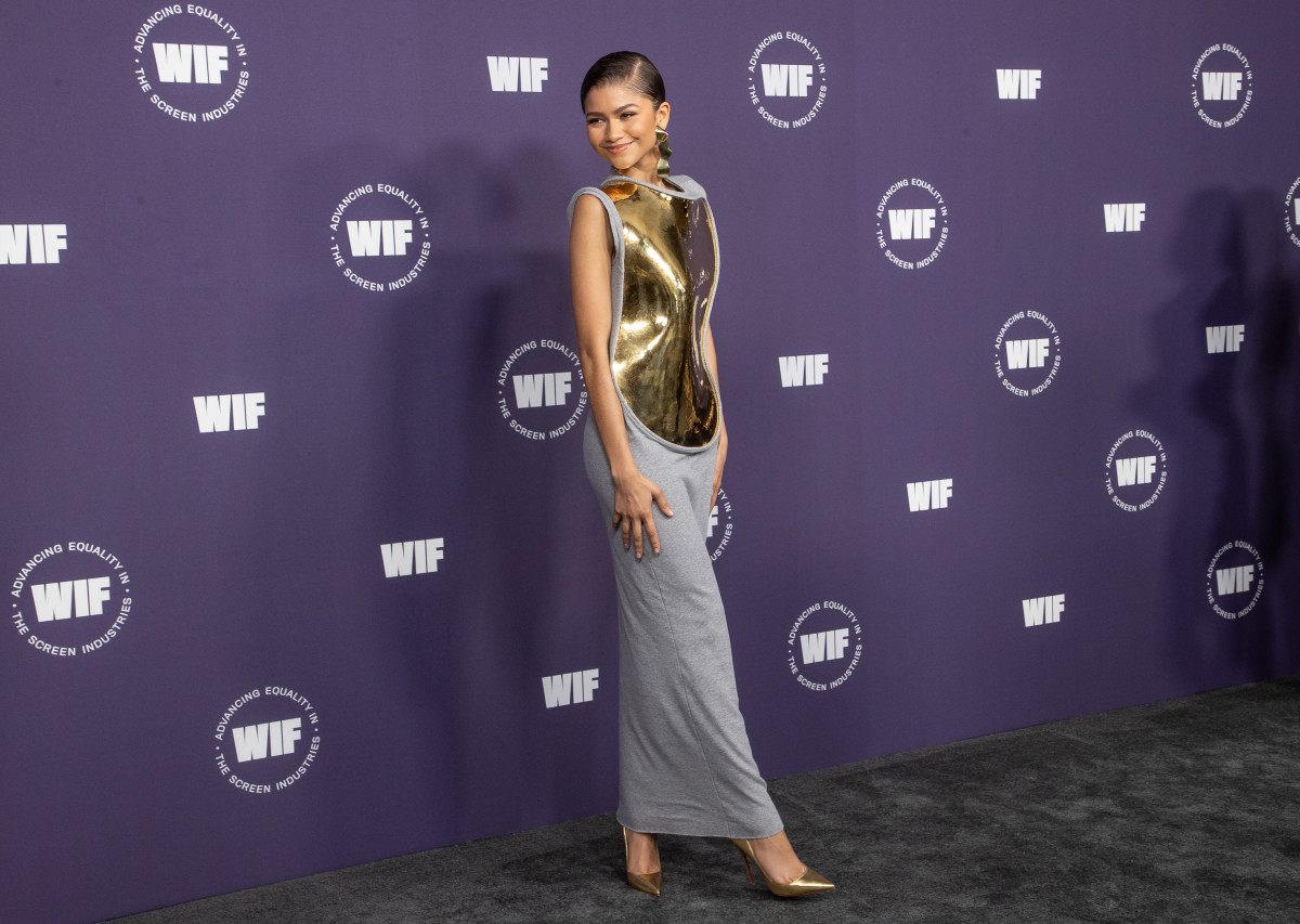 Zendaya attends the Women in Film's annual award ceremony on October 06, 2021
