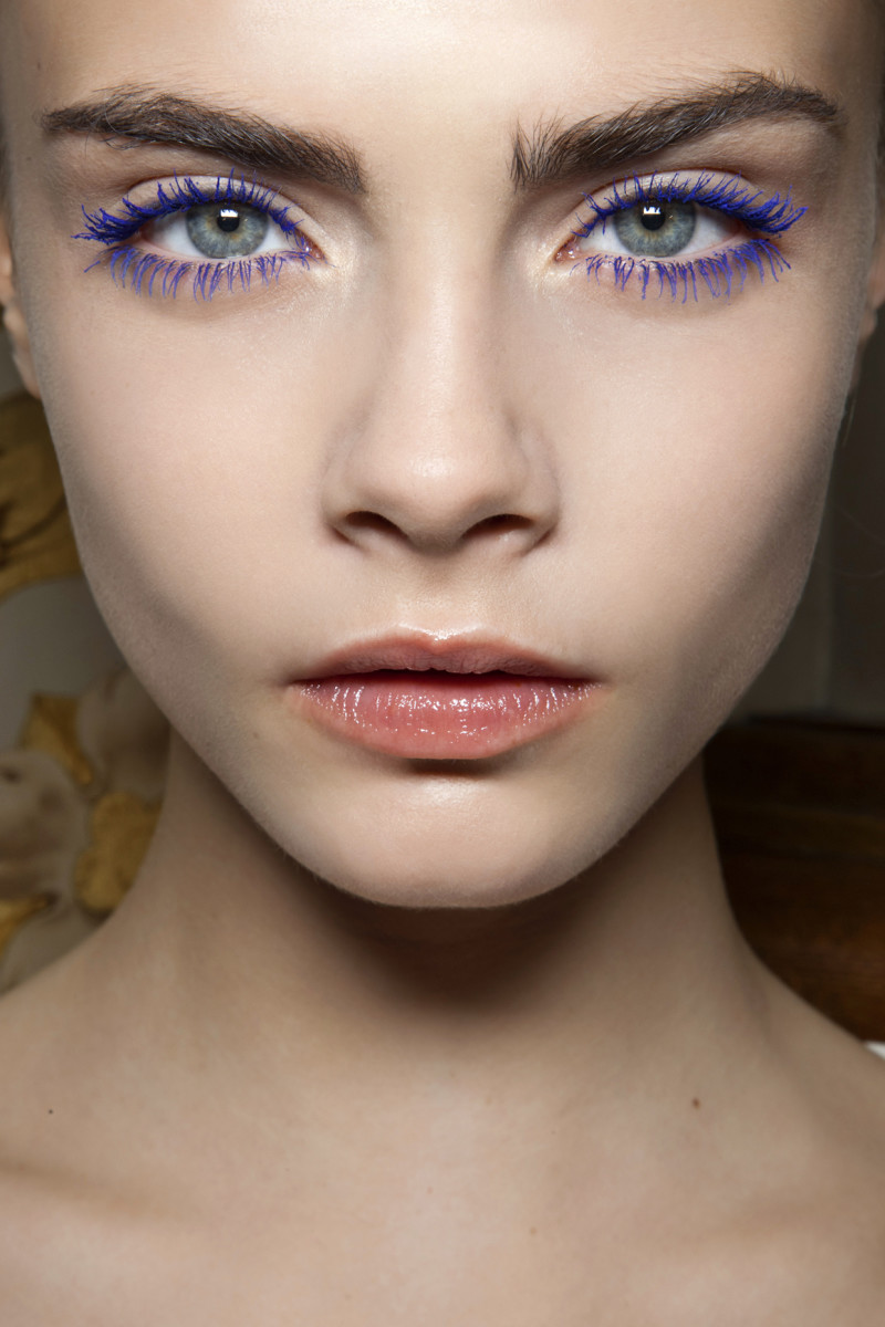 blue colorful mascara