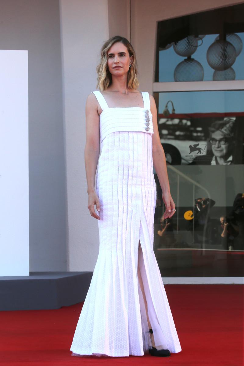 "Naama Preis walks the red carpet ahead of the movie ""Laila In Haifa"""