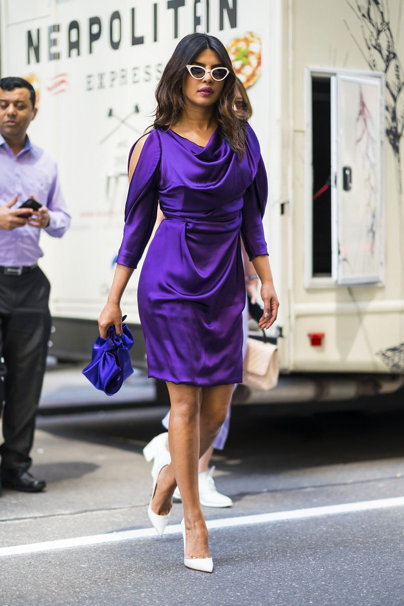 Priyanka Chopra is seen wearing Vivienne Westwood in Midtown on May 2, 2018