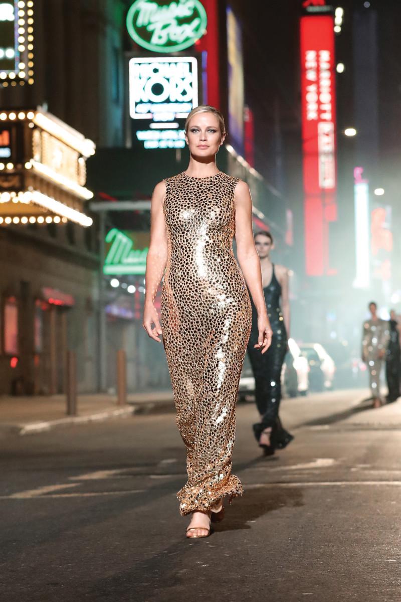 Carolyn Murphy walks the Michael Kors Collection 40th Anniversary show.