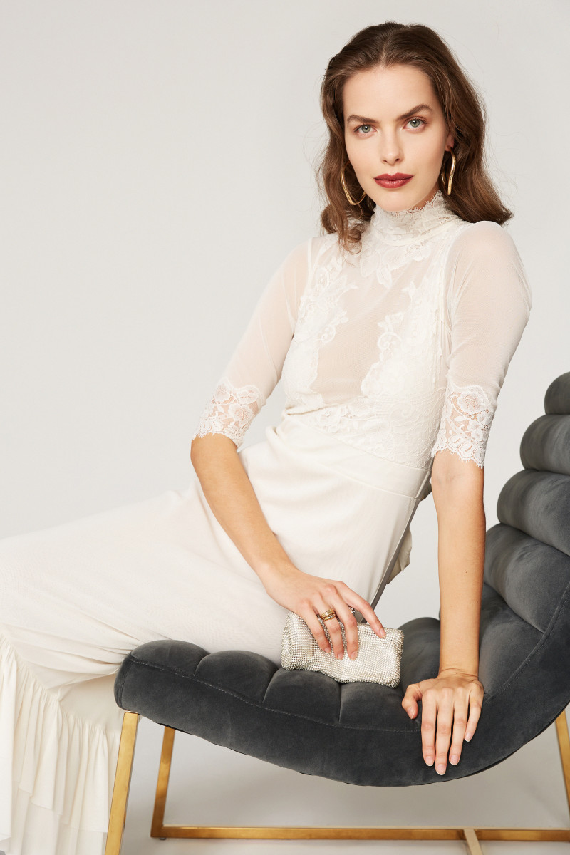 A popular ready-to-wear bridal occasion midi-dress by Hah from Rent the Runway.