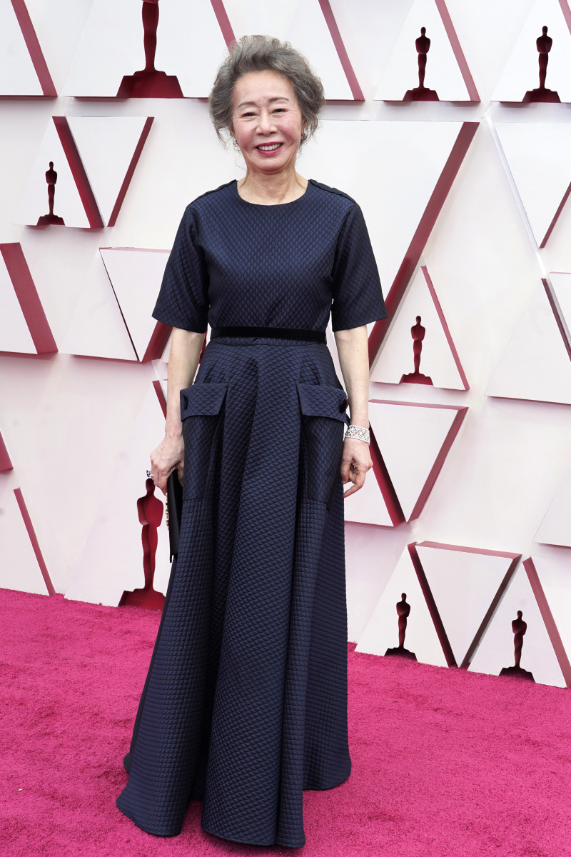 Youn Yuh-jung attends the 93rd Annual Academy Awards
