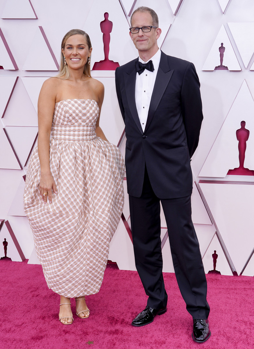Dana Leigh Murray and Pete Docter attend the 93rd Annual Academy Award