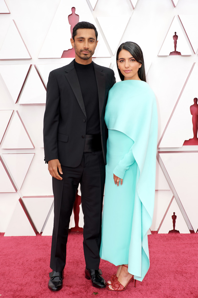 Riz Ahmed and Fatima Farheen Mirza attend the 93rd Annual Academy Awards