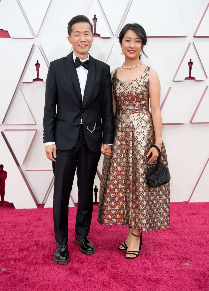 Lee Isaac Chung and Valerie Chung attend the 93rd Annual Academy Awards
