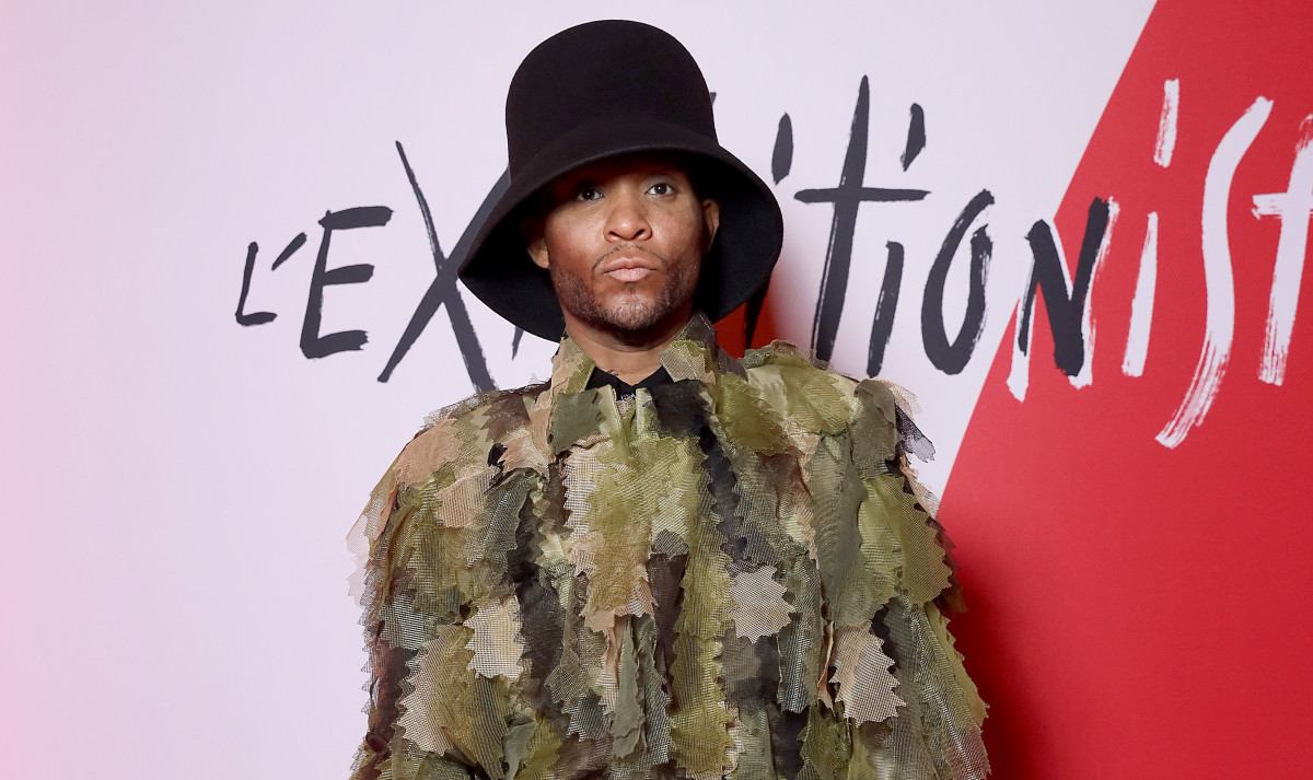 Law Roach attends the Exhibition Opening of L'Exibition[niste] by Christian Louboutin as part of Paris Fashion Week