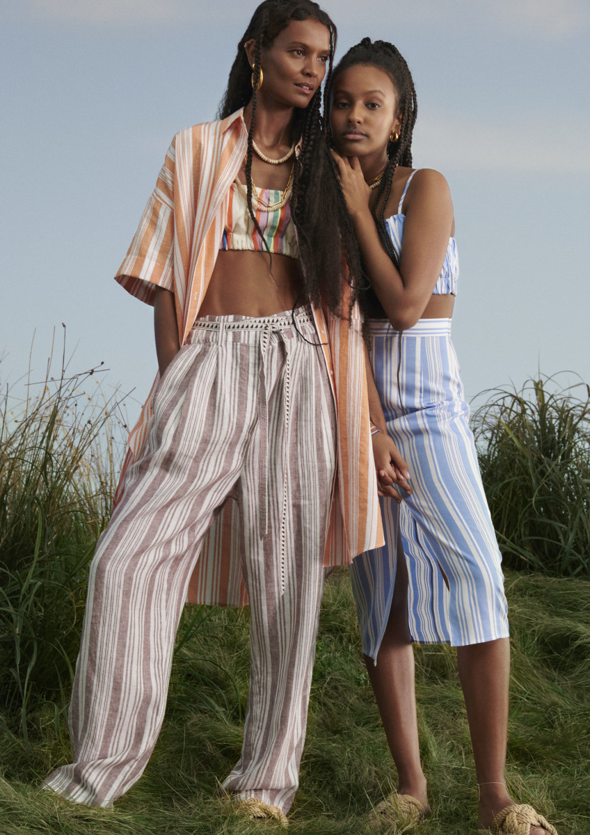 Liya Kebede and her daughter for Lemlem x H&M.