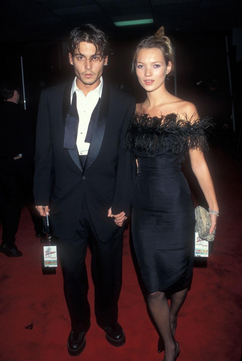 kate moss black dress 90s