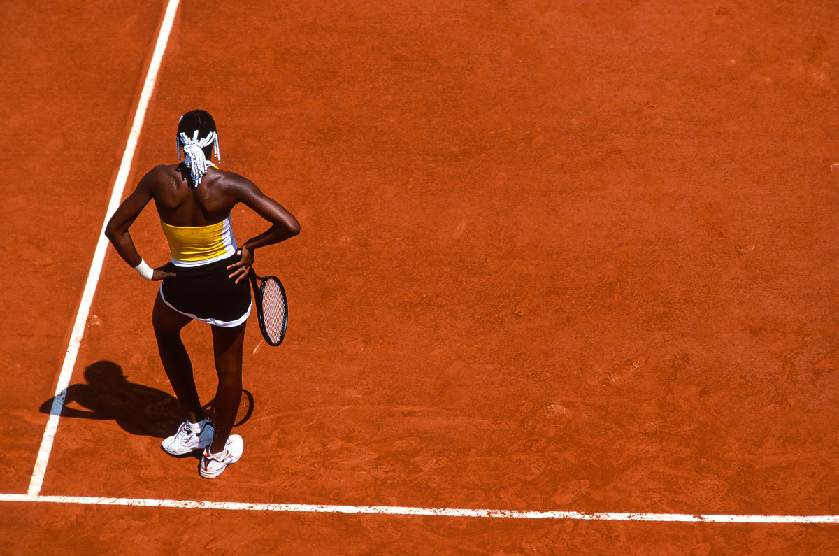 Venus Williams at the French Open in 1999.