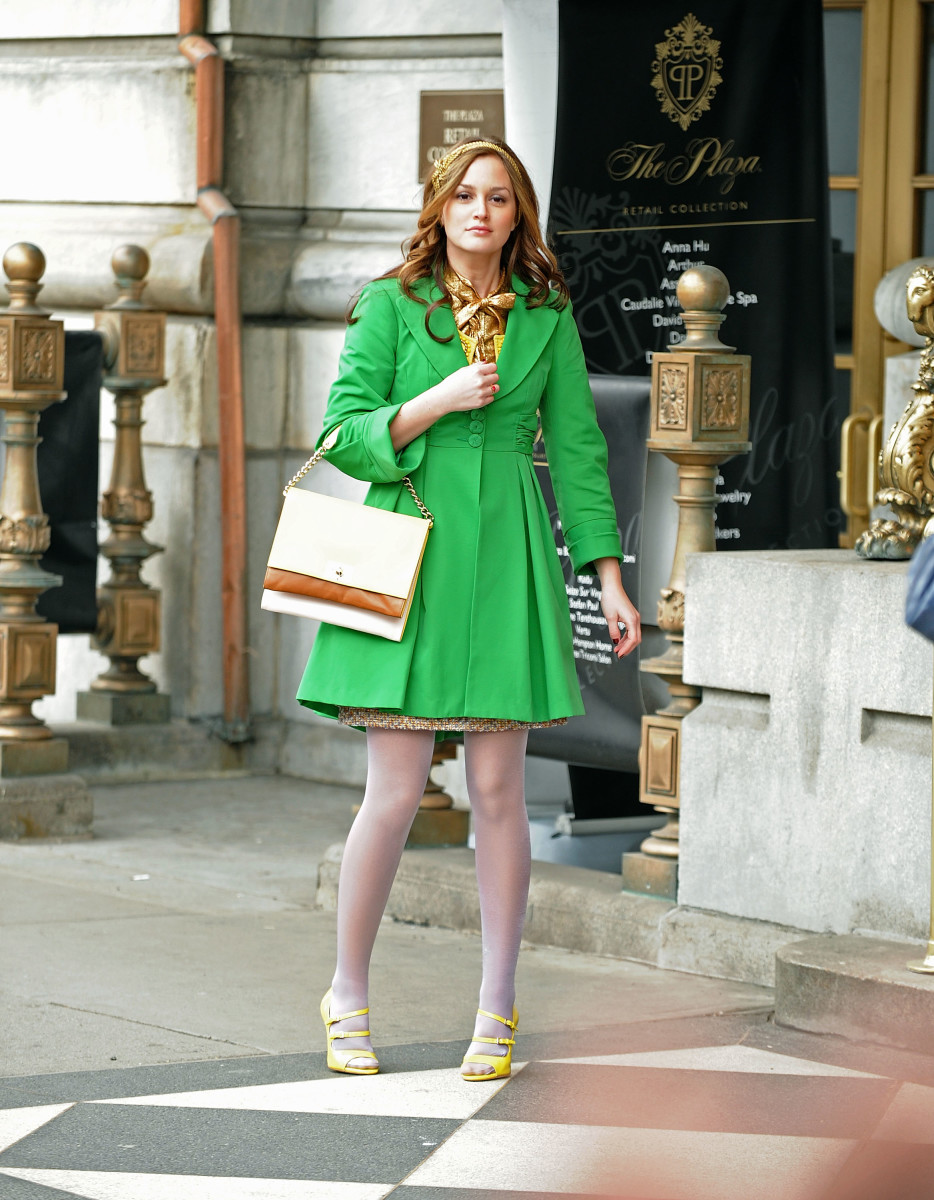 Blair Waldorf (Leighton Meester) in a Nanette Lepore coat.