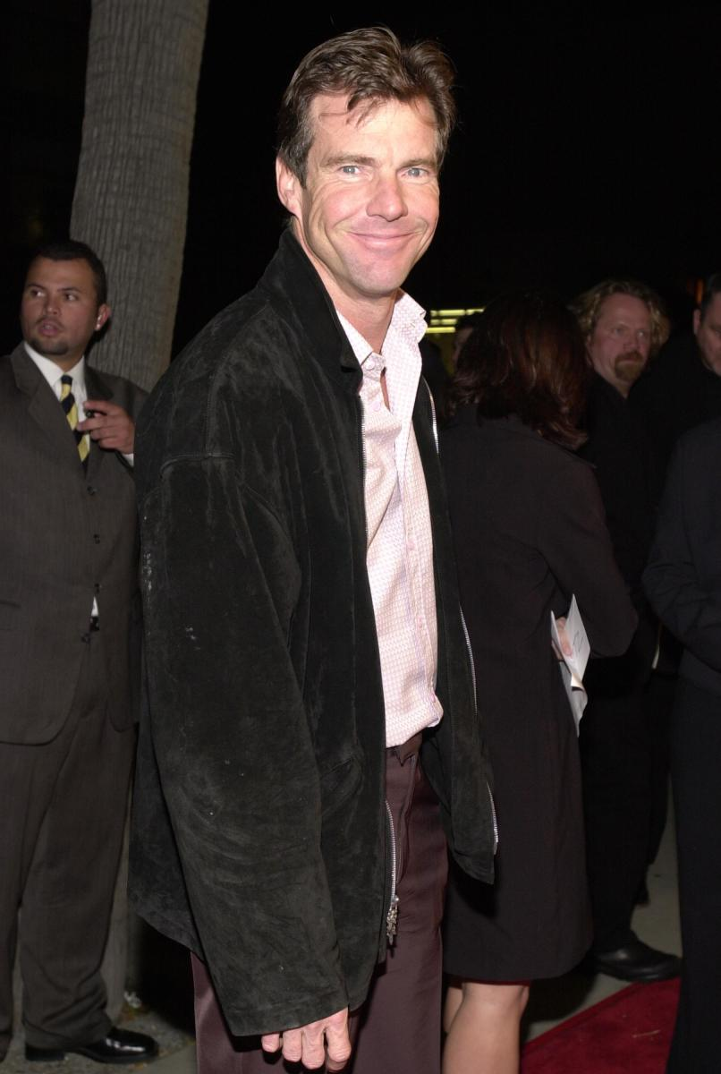 """Dennis Quaid at the premiere of USA Films'' """"Traffic"""" in 2000."""