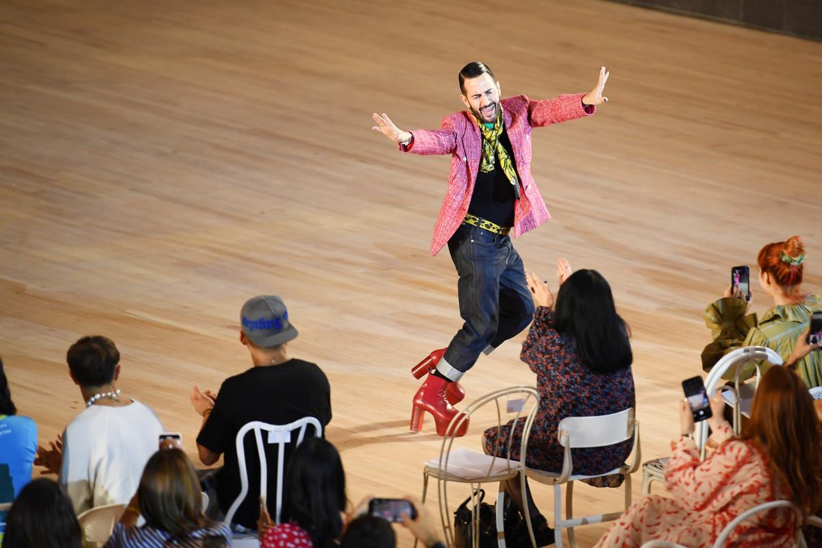 Designer Marc Jacobs walks the runway finale during the Marc Jacobs Spring 2020 Runway Show
