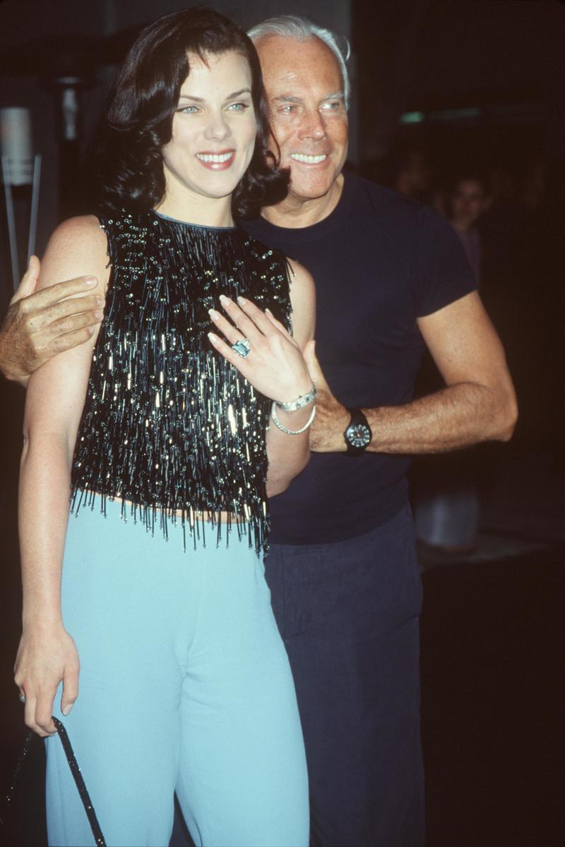 Giorgio Armani with Debi Mazar at Quixote Studio