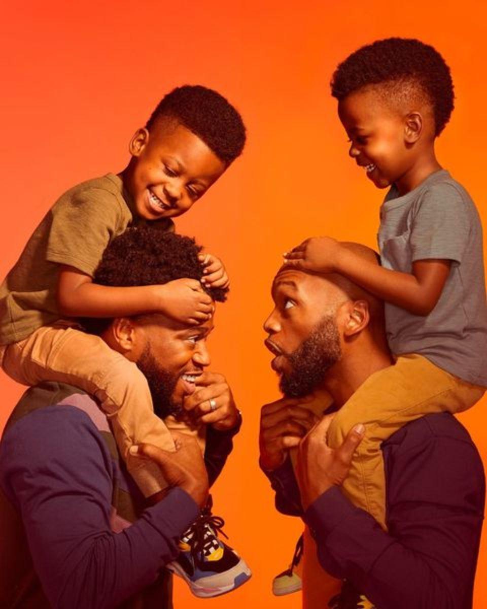 A SheaMoisture Men campaign image.