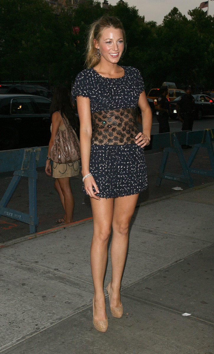 """Blake Lively in Chanel at the Cinema Society screening of """"Twelve"""" in 2010."""