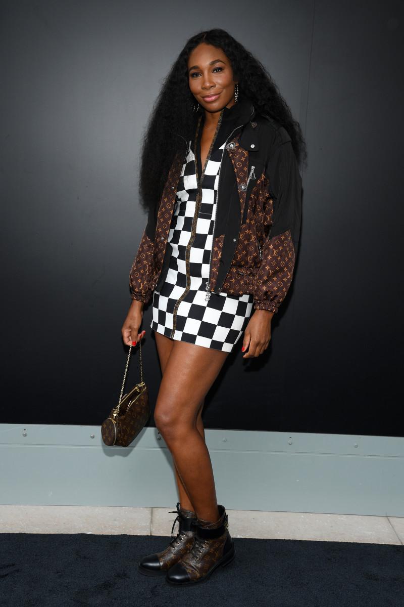 Venus Williams attends the Louis Vuitton Womenswear Spring:Summer 2021 show as part of Paris Fashion Week