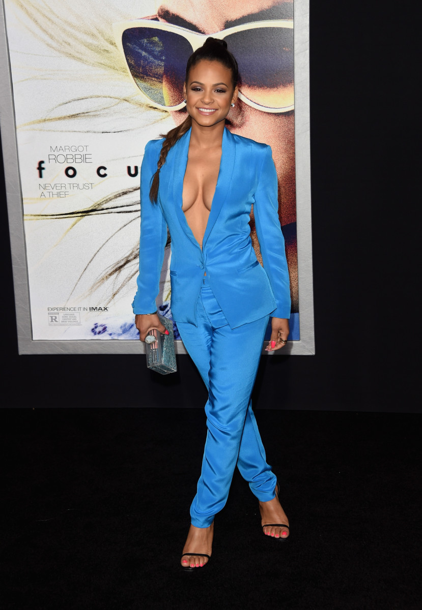 Milian at the 2015 premiere of 'Focus' in Los Angeles.