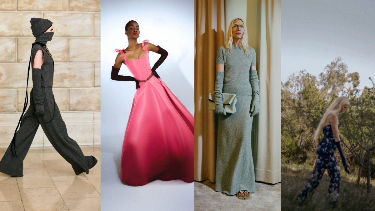 From L to R: Marc Jacobs, Prabal Gurung, Altuzarra, Brock Collection, all Fall 2021.