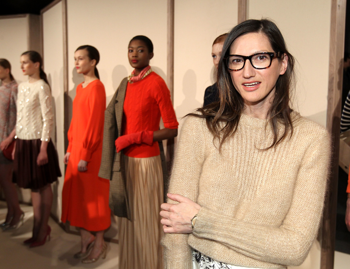 Jenna Lyons at J.Crew's Fall 2012 presentation during New York Fashion Week in February 2012.