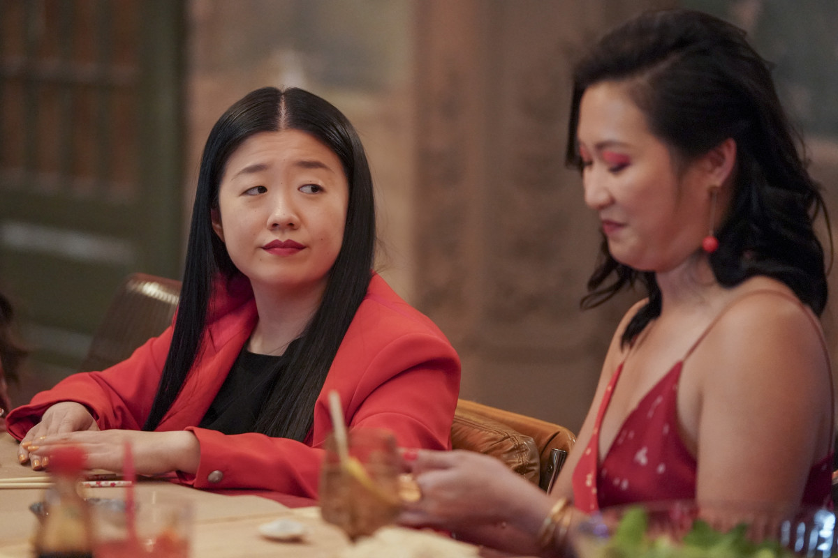 'It means so much to me to be able to represent queer Asian female love. Period,' says Cola. Pictured above as Sherry with Kara Wang as Sumi in the Lunar New Year episode of 'Good Trouble.'