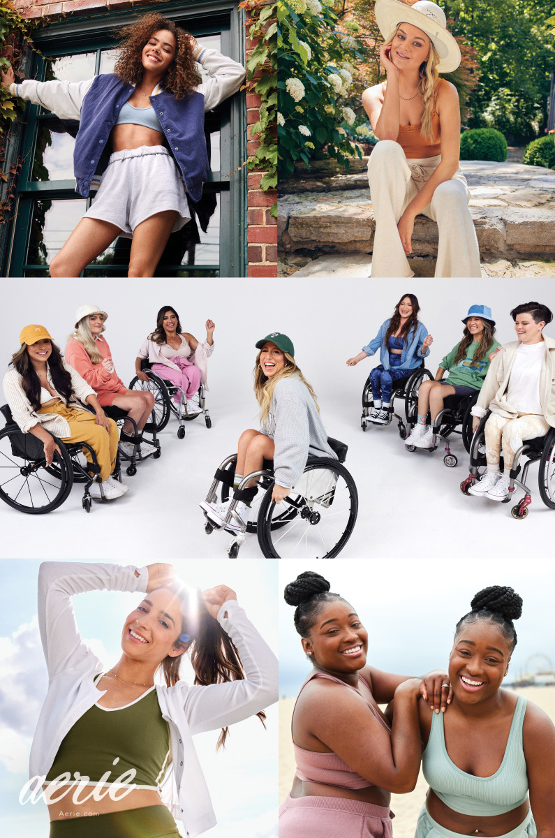 #AerieREAL Voices_Antonia Gentry_Kelsea Ballerini_The Rollettes_Aly Raisman_TheNaeNaeTwins_Photo Credit_Aerie