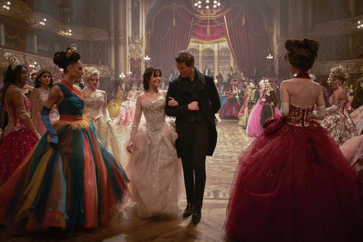 Cinderella and Prince Robert have a moment at the big ball.